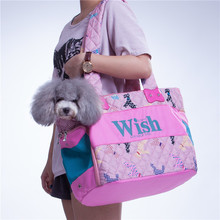 Pet Carrier Cat Dog Shoulder Carrier Fashion Print Windpoof Pet Bag Comfortable Bed For Small Dogs