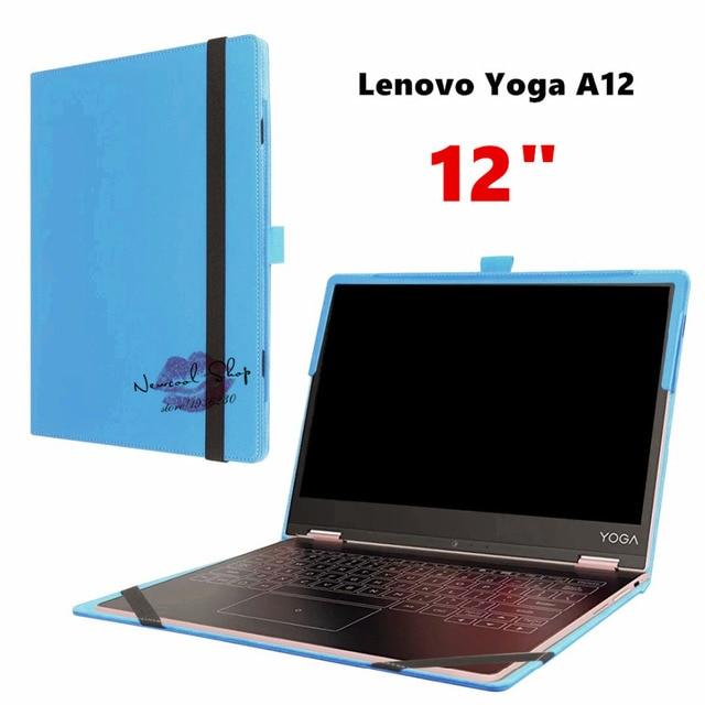 """2017 nova yoga a12 a12 virar capa pu leather case para lenovo yoga 12 """"12.0 polegada tablet funda case capa com teclado station"""