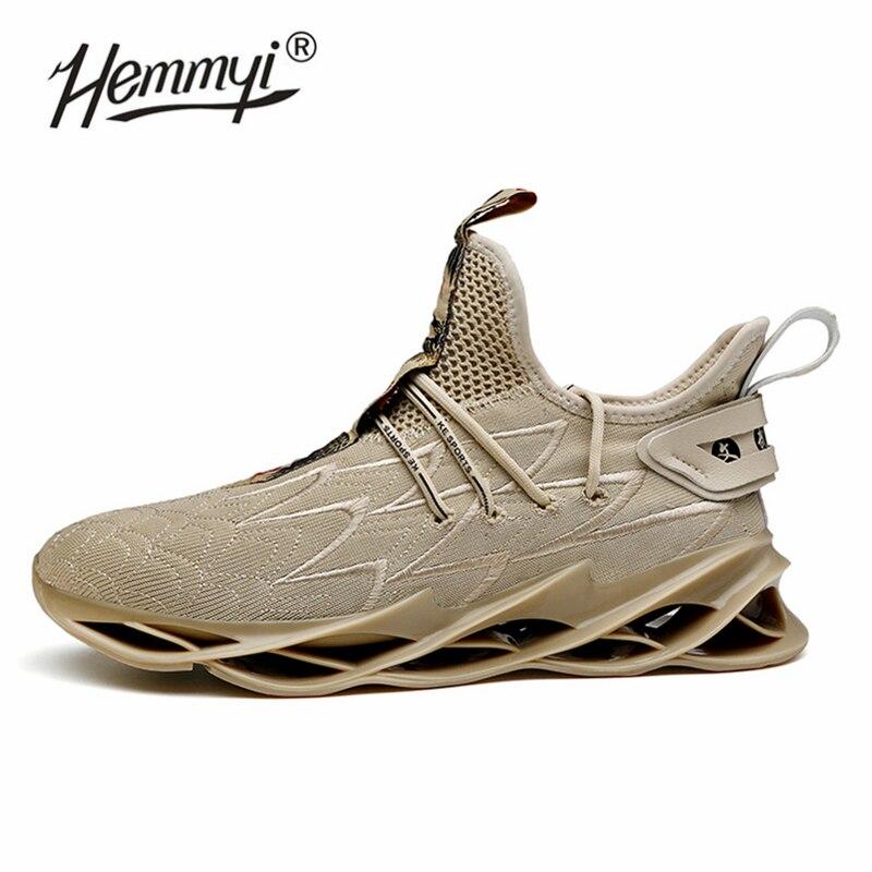 Hemmyi 新ブレードランニングシューズ男高品質のスニーカーノンスリップ衝撃吸収通気性のスポーツ靴 Zapatos 黒  グループ上の スポーツ & エンターテイメント からの ランニングシューズ の中 1