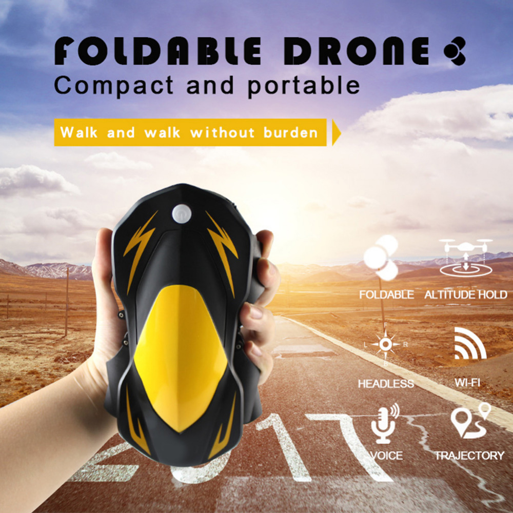 2.4G 4CH RC Folding Four-axis Aircraft with 0.3 Megapixel Camera WIFI Real-time Transmission with Gravity Sensor Remote Control