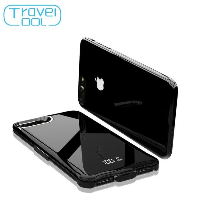Travelcool 5000 mAh Caso Carregador de Bateria para o iphone 6 7 8 Telefone Carregador de Bateria Externa Caso Power Bank com o Digital tela