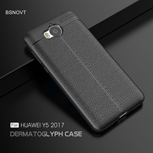 For Huawei Y5 2017 Case Soft Silicone TPU Leather Shockproof Bumper Phone Case For Huawei Y5 2017 Cover For Huawei Y6 2017 Case цена 2017