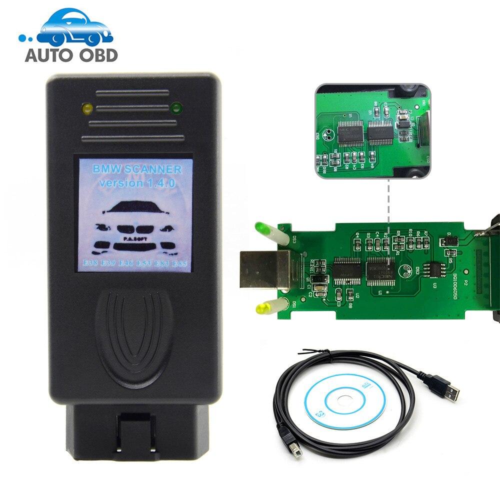 Prix pour Pour BMW Scanner 1.4.0 Version OBD2 Lecteur de Code 1.4 OBD Diagnsotic Outil rapide livraison gratuite