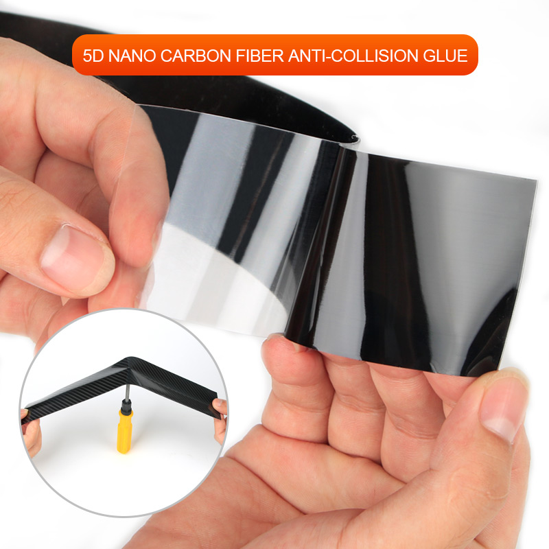 Image 3 - Car Styling Carbon Fiber Wrap 5D Car Door Protector Car Door Sill Strips Protector Carbon Fiber Vinyl Film Auto Bumper Stickers-in Car Stickers from Automobiles & Motorcycles