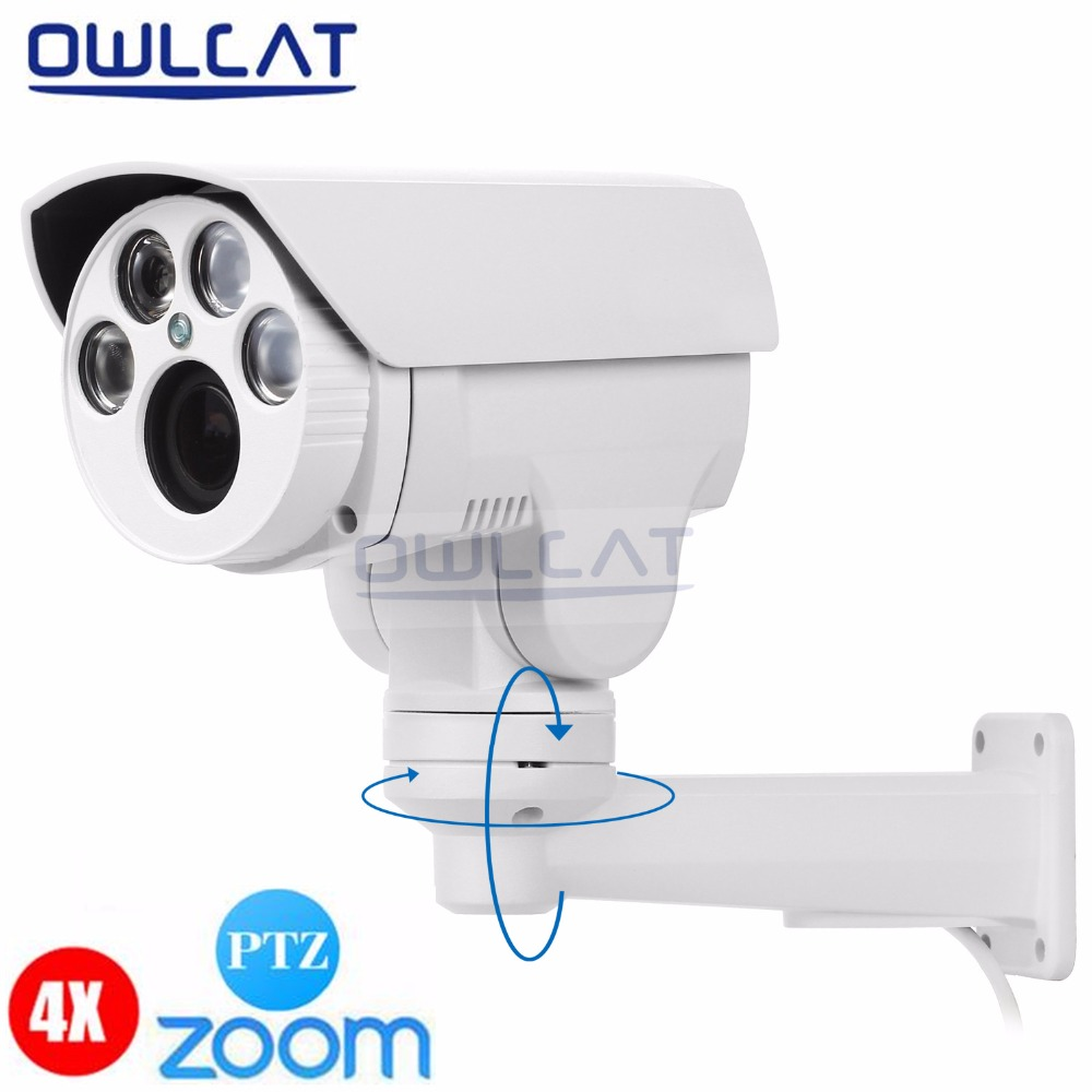 OwlCat IP Camera 2.0MP Bullet 4X optical Zoom Waterproof IR 60M Night Vision Outdoor Security Camera ONVIF CCTV Cam IR-Cut 1280 720p 1mp onvif poe bullet ip camera outdoor waterproof p2p ir cut filter network camera mini night vision cctv security cam