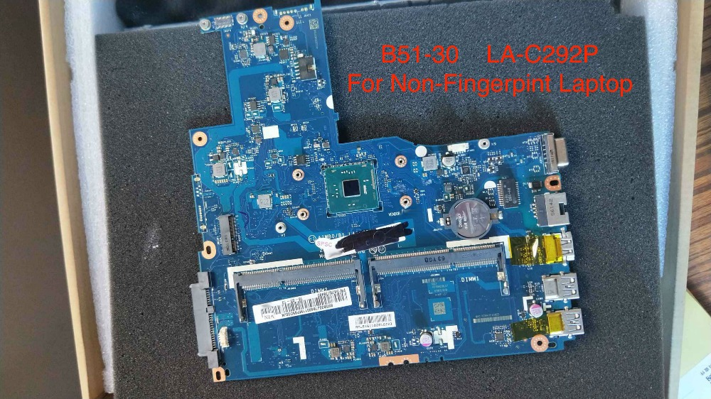 Free Shipping New AIWBO/B1 LA-C292P mainboard For LENOVO B51-30 Motherboard ( For Non-FingerPrint Laptop )