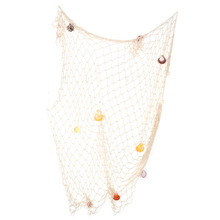 Shell Nets Background Wall Decoration Fishing Net Sea Shell Starfish Hanging Home Wall Decoration Nautical Ocean Theme