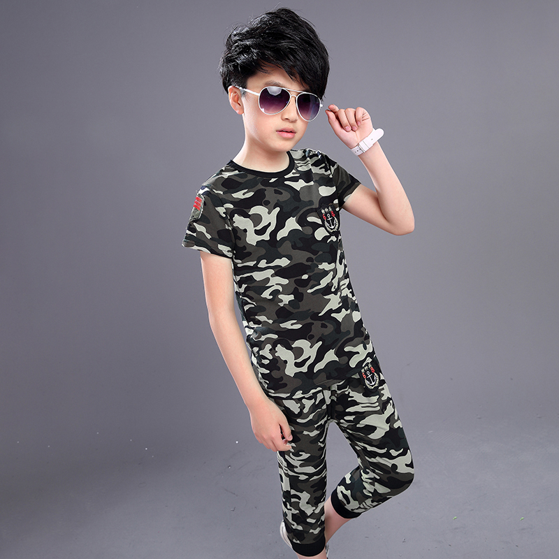 Boys Clothing camouflage Set Children Clothing Sets Kids Clothes Boy Suits For Boys Clothes Summer Kids Sport Tracksuit 2018 boys clothing set kids sport suit children clothing girls clothes boy set suits suits for boys spring autumn kids tracksuit sets