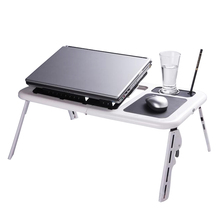 YONTREE 1 PC Adjustable Laptop Computer Desk with Stand Tray and Mouse Pad High Quality Home Furniture