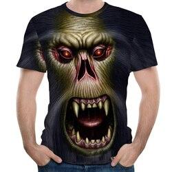 Męskie koszulki 3D drukowane zwierząt małpa tshirt z krótkim rękawem śmieszne projekt na co dzień topy koszulki męskie Halloween t shirt europejska rozmiar 2