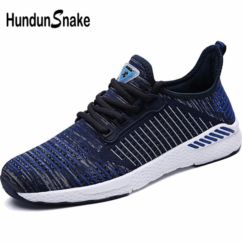 Hundunsnake Big Size Men Shoes Sneakers Men Running Shoes Sports Men Shoe Sport Summer Sapatenis Male Blue Chaussure Homme B-031