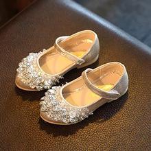 Girls princess shoes autumn children's fashion comfortable single flower dress shoes for girls sapato infantil menina festa 366
