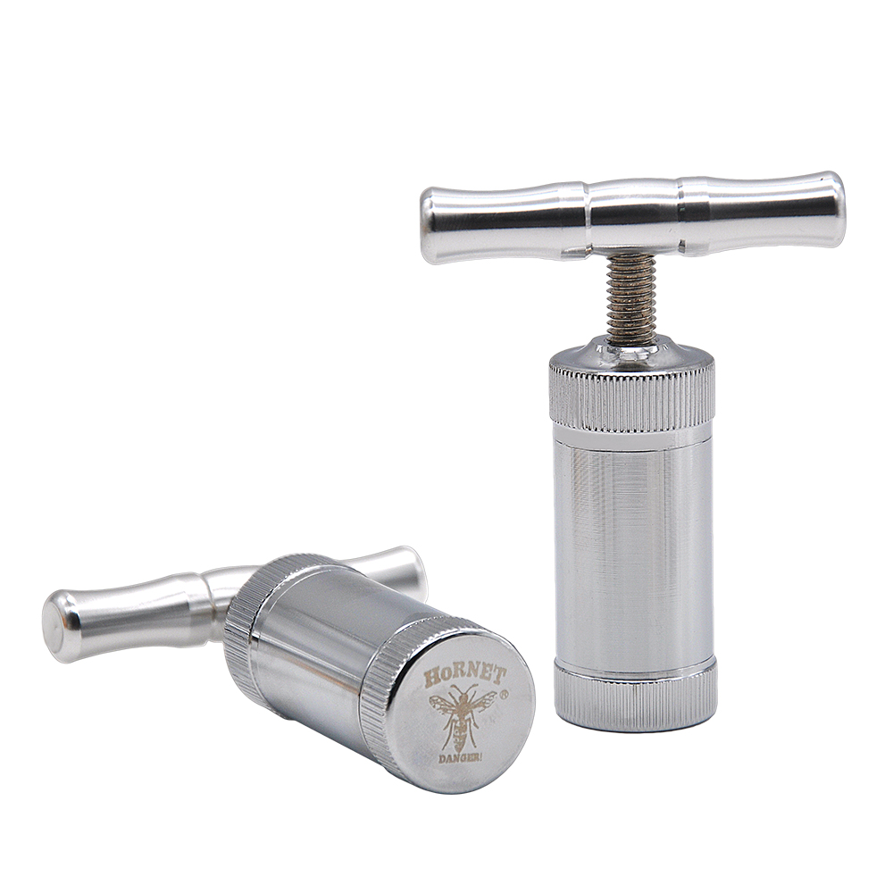 Metal Aluminum Pollen Press Compressor Press Herb Grinder Tobacco Spice Crusher Smoking Accessories title=