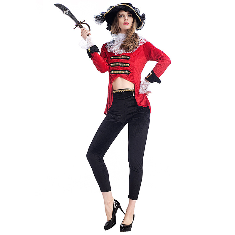 Halloween Purim Party Costumes Women Sexy Pirate Costume Fancy Game Cosplay Clothing Top Pants for Women