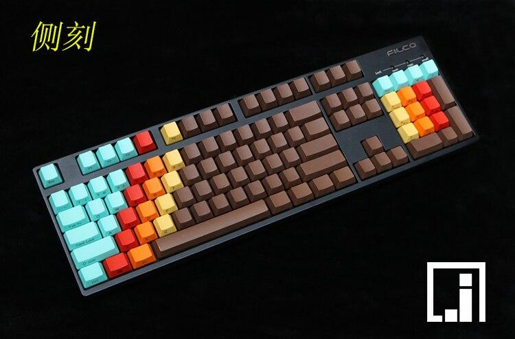 1976 dessus de touche multi couleur mécanique clavier épais PBT keycap cherry mx OEM côté impression classique 87 104 keycaps jeu clavier