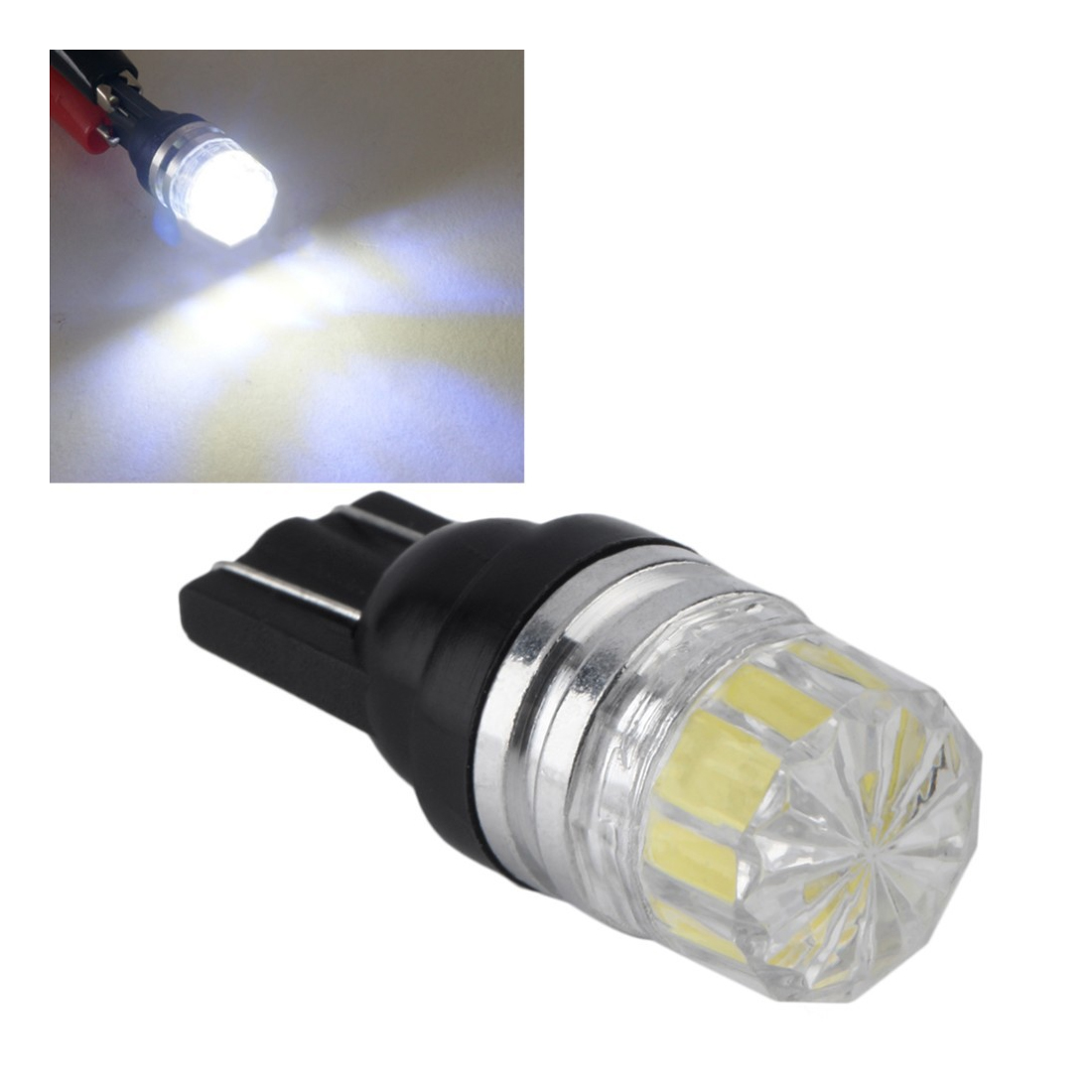 Tonewan High quality 2PCS Hot Sale!!! New White 2 LED 5630 SMD T10 W5W Wedge Lens Light Car Vehicle Bulb Lamp DC 12V image