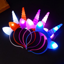 Rave Led Headband Light Up Flashing Luminous Hair Lights Hairband Gifts For the New Year Party Supplies
