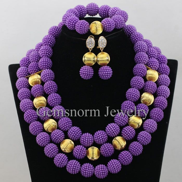 2017 New Plastic Pearl Nigerian Traditional Wedding African Beads ...
