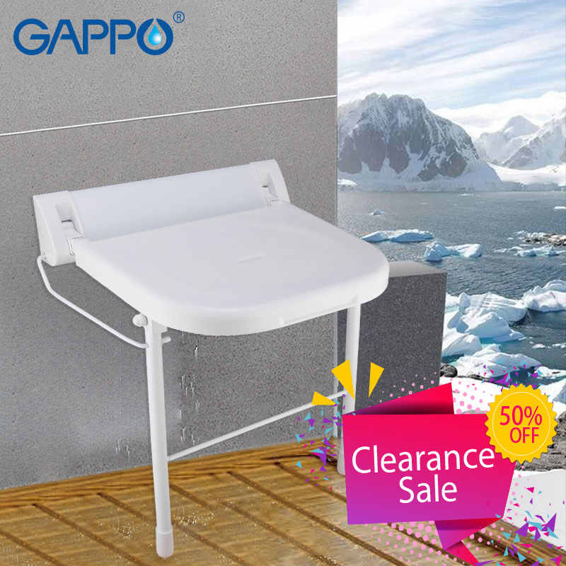 GAPPO الحائط دش مقاعد الحمام كرسي قابل للطي دش مقعد قابل للطي حمام مقعد طويل قابل للطي دش البراز المرحاض
