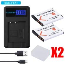 цена на RP 2x bateria NP-BN1 np bn1 NPBN1 battery + LCD USB charger for sony DSC WX220 WX150 DSC-W380 W390 DSC-W320 W630 camera
