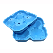 TAOXIBEI 4 Holes Big Diamonds Shape Ice Cube Molds Diamond Ice Cube Maker Silicone Diamond Cube Tray Eco-Friendly Ice Makers