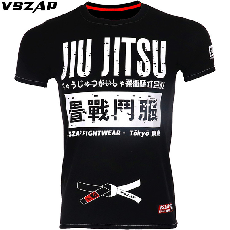 Jiu Jitsu VSZAP Fight Thai Boxing Fight Shogun Short Sleeve T Shirt General MMA Fitness Martial Arts Warrior Training Man