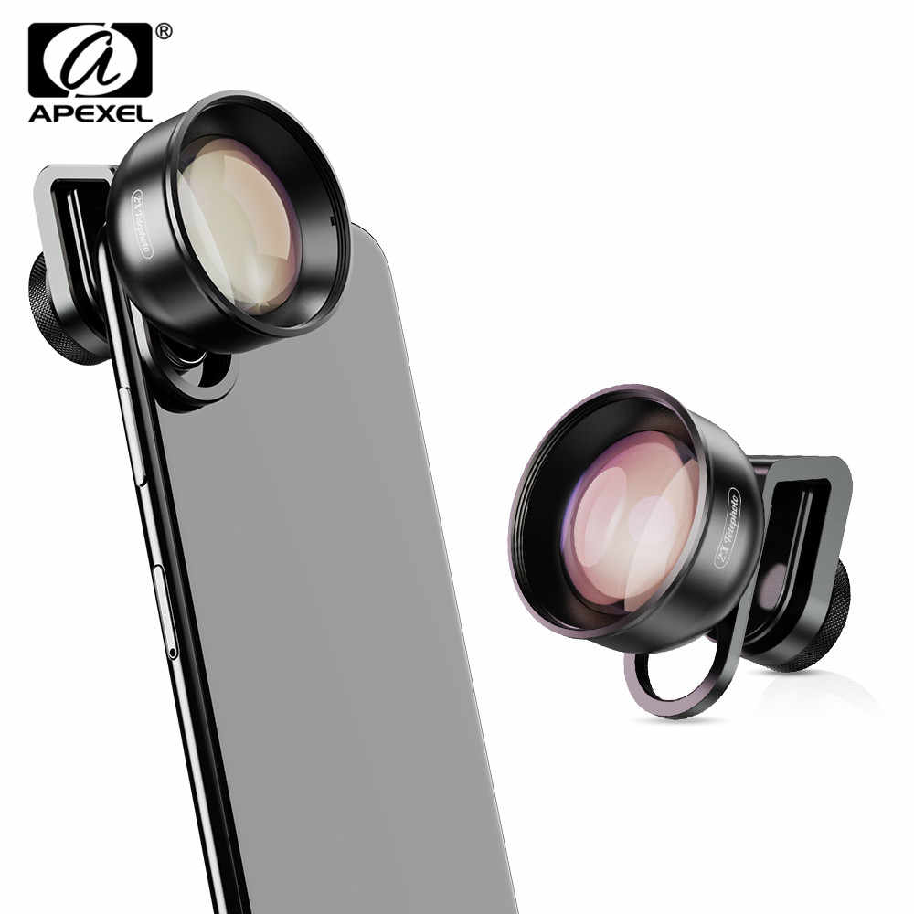 APEXEL 2X Telephoto Phone Camera Lens Camcorder Mobile HD Lens for iPhone,Pixel,Samsung Galaxy All Smartphones For xiaomi ,LG