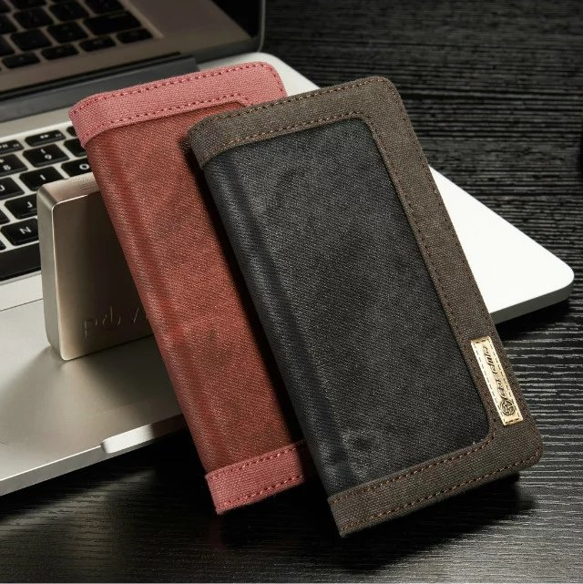 CaseMe Luxury Jeans+Leather Flip Wallet Card Mobile Phone Case For iphone7/7Plus With Stand Cover Bags Business StyleCaseMe Luxury Jeans+Leather Flip Wallet Card Mobile Phone Case For iphone7/7Plus With Stand Cover Bags Business Style