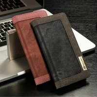 CaseMe Luxury Jeans+Leather Flip Wallet Card Mobile Phone Case For iphone7/7Plus With Stand Cover Bags Business Style
