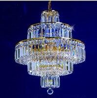 Gold Crystal Pendant Light Lighting Modern Chrome Crystal Pendant Lights Fixture Diameter 50cm 65cm Or 75cm