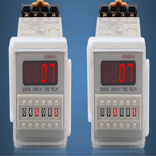 лучшая цена DH48S-S LCD Digital timer relay 12v 220v 24v 380v Cycle control time relay free shipping