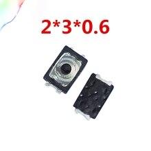 Печать под заказ, 50 шт в наборе, хозяйственные сумки 2x3x0,6 U Тактильный кнопочный переключатель тактичности 4-контактный Микровыключатель SMD мини Тонкий тонкая пленка ключ светильник сенсорный выключатель