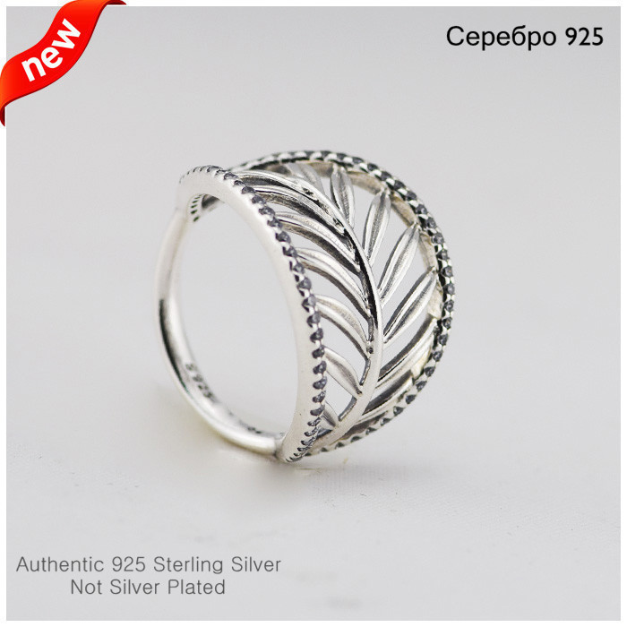 Aliexpress.com : Buy 925 Sterling Silver Palm Tree Leaf with CZ ...