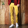 Brand Casual Straight Pants Men Clothing Pants Pure Cotton Mens Joggers 10 Colors Slim Fit Leisure Trousers Stylish 1fh