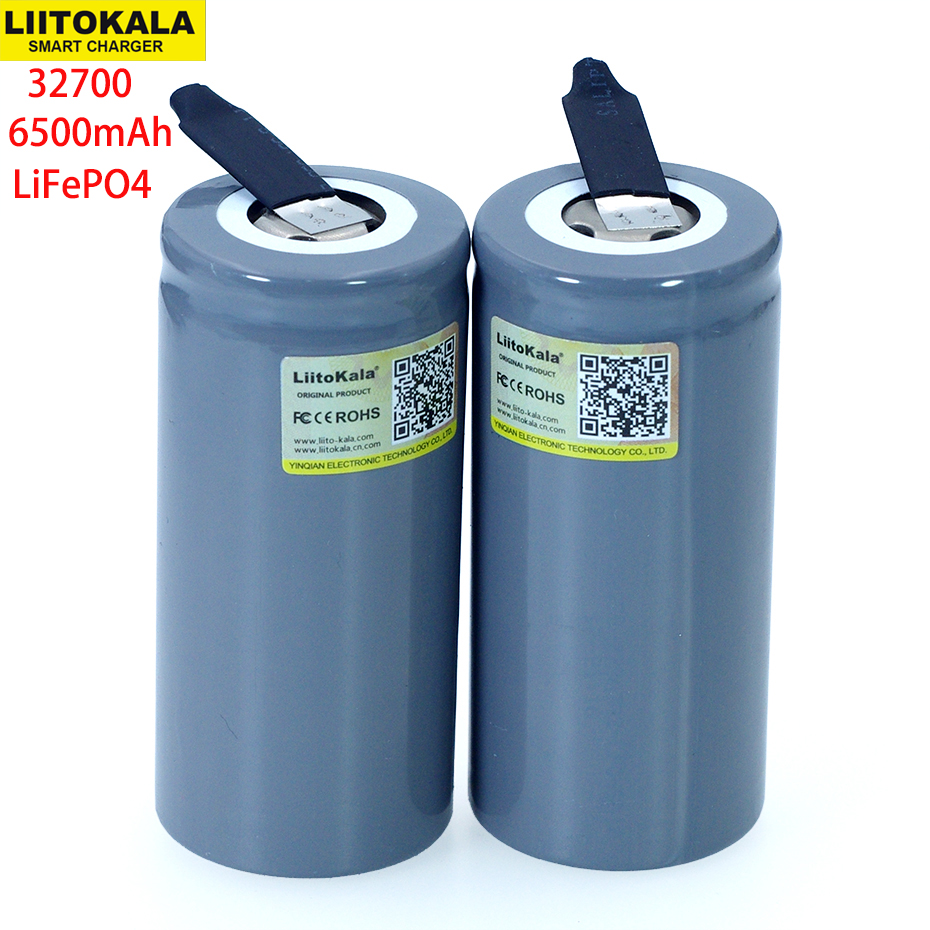 LiitoKala 3.2V 32700 6500mAh LiFePO4 Battery 35A Continuous Discharge Maximum 55A High Power Battery+DIY Nickel Sheets