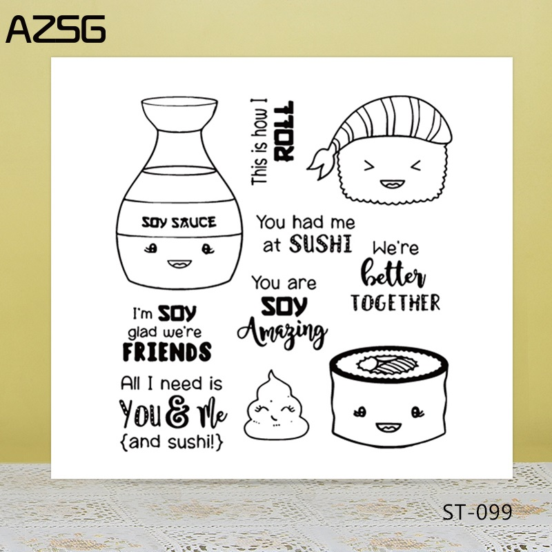 AZSG Cartoon Personate Alpaca Cookies Fruit Clear Stamps For DIY Scrapbooking Card Making Album Decorative Silicone Stamp Crafts in Stamps from Home Garden