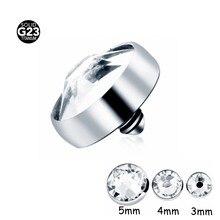 7b0c3330ebf3 10 unids lote G23 grado gema diseño superior Titanium Dermal ancla piercing  Bisutería para el cuerpo piercing piel buceo Dermal .