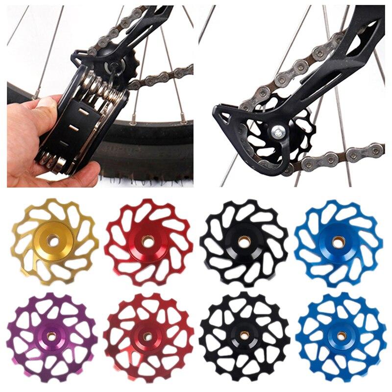 Brand 11T 15T MTB Bicycle Rear Derailleur Jockey Wheel Ceramic bearing Pulley CNC Road Bike Guide Roller Idler Free shipping!