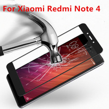 Фотография Full Coverage For Xiaomi Redmi Note 4 Case Tempered Glass Film 9H UltraThin Screen Protector For Redmi Note 4 Pro 5.5inch
