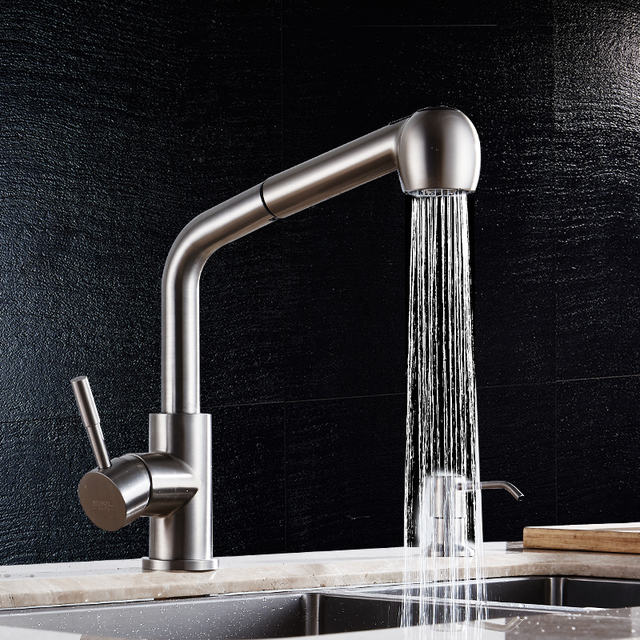 Ssy 304 Stainless Steel Kitchen Faucet High Arch Kitchen Sink Faucet