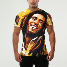 2016 Mens Bob Marley T Shirt Clothing T-Shirt Fashion Hip Hop Funny Shirts Short Sleeves Men/women Novelty Street Clothes Lycra