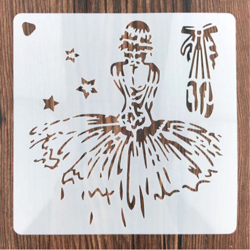 1PC Cartoon Princess Girls Shaped Reusable Stencil Airbrush Painting Art DIY Home Decor Scrap Booking Album Crafts School Supply