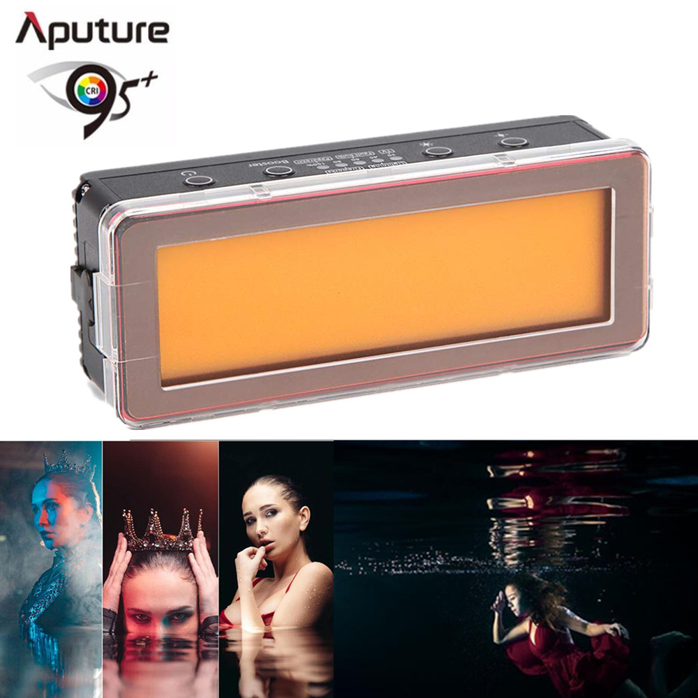 Aputure AL MW 10W Waterproof Mini LED Photography Light Built in Lithium Battery IP68 10M 5500K Daylight lamp For Camera Video-in Photographic Lighting from Consumer Electronics    1