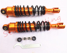 Suitable for:motorcycle Honda suzuki yamaha 320mm 50cc 100cc 125cc scooter A variety of models after shock absorber Gold + black