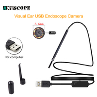 Antscope Ear Cleaning USB Endoscope Camera 5 5mm Ear Nose Throat Visual Borescope Mini Endoscopic Ear
