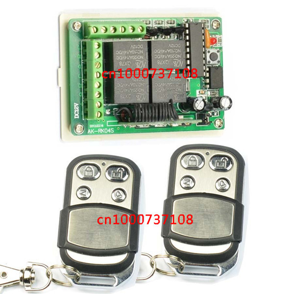 DC12V 4CH RF light switch with learing code 315mhz 433mhz wireless radio remote controller switch for lamp /lights