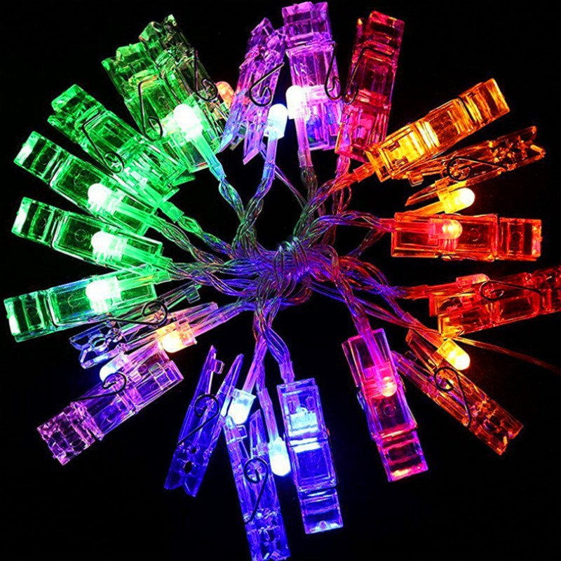 Battery USB Photo Clip Holder LED String lights For Romantic Atmosphere Decoration fairy light Thematic wall decorative GarlandsBattery USB Photo Clip Holder LED String lights For Romantic Atmosphere Decoration fairy light Thematic wall decorative Garlands