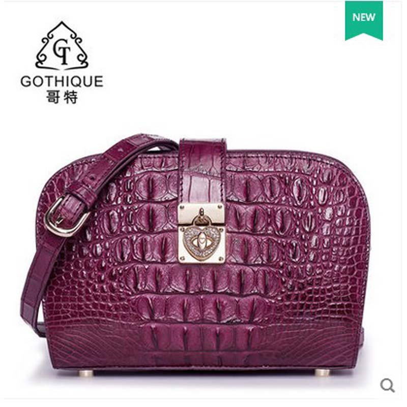 2018 gete hot new alligator skin bag women shell bag crocodile skin bag thailand