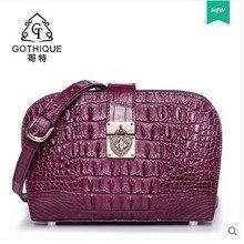 gete 2017 hot new alligator skin bag  women shell bag crocodile skin bag thailand