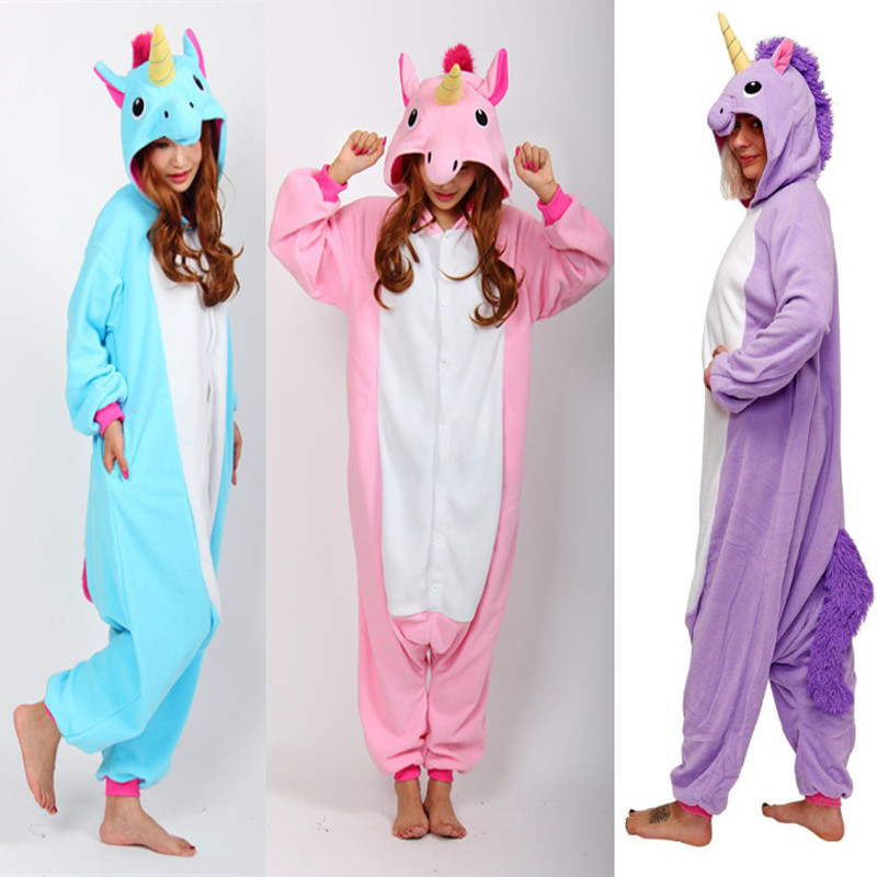 bleu violet ou rose barboteuses petit poney licorne unisexe combinaison costumes halloween party cosplay costumes pour